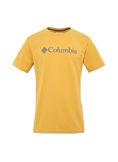 Columbia Columbia CS0001 Csc Basic Logo Short Sleeve Erkek    T-Shirt Sarı